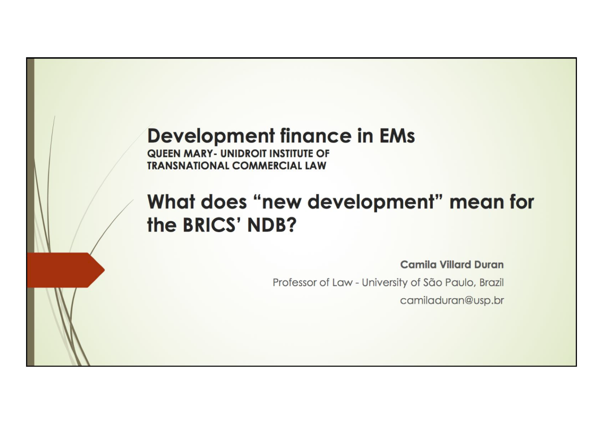 A Professora Camila Duran participa de debate internacional sobre finanças do desenvolvimento em Oxford